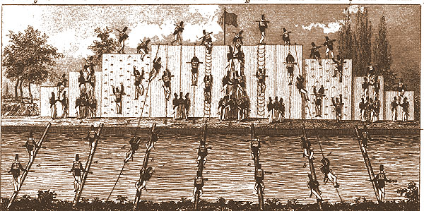 Military climbing wall - early 1800s