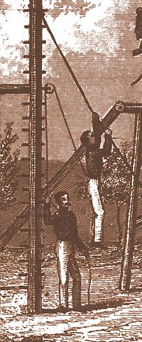 Rope climber on belay