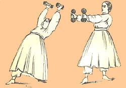 Female gymnasts, 1862