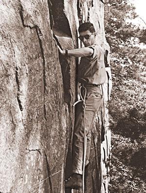 Michael Fain at Devils Lake, 1950s