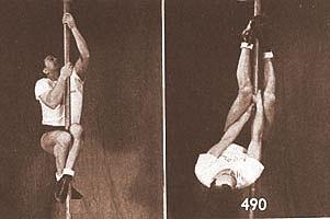 Navy pole climbers